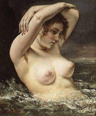 Gustave Courbet - Femme à la vague