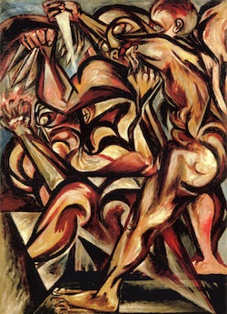 Nacked Man with Knife / Jackson Pollock