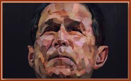 Le portrait de Bush, par Jonathan Yeo