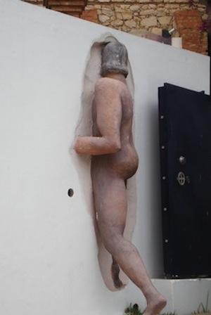 Ségolène dans le mur