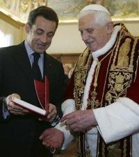 Nicolas Sarkozy et le pape Benoit XVI