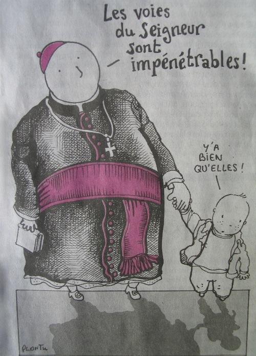 Plantu, Pape, enfant, Le Monde du 28 et 29 mars 2010
