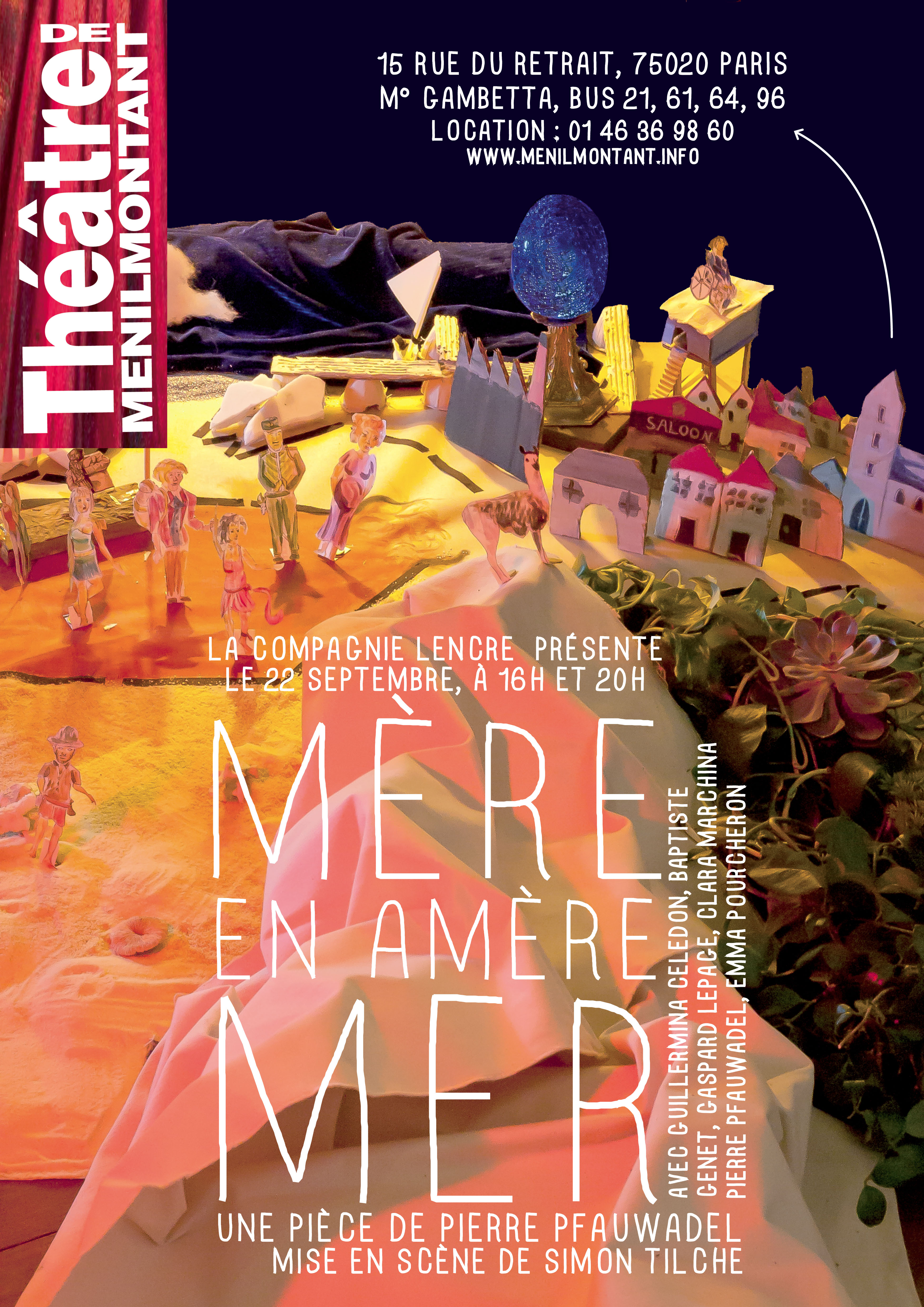 Affiche Mère en Amer Mer - Pierre Pfauwadel - Carol Landriot