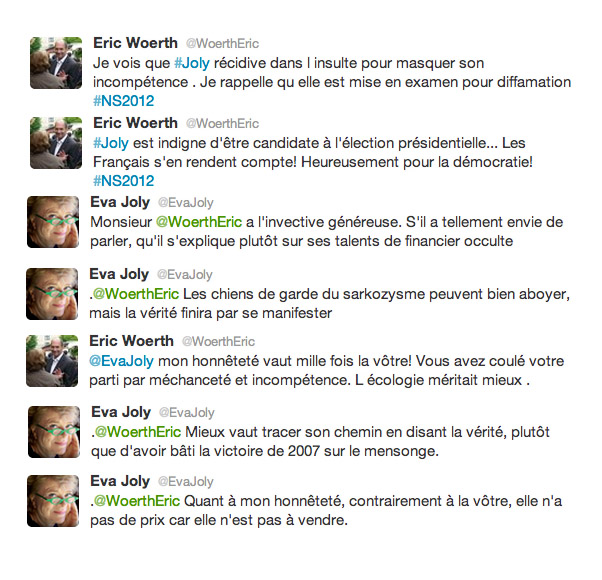 Eva Joly Eric Woerth Twitter