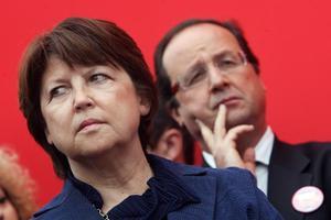 Martine Aubry et Francois Hollande