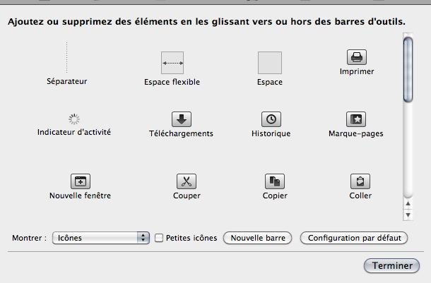 Firefox 4 : personnaliser les barres d'outils du navigateur