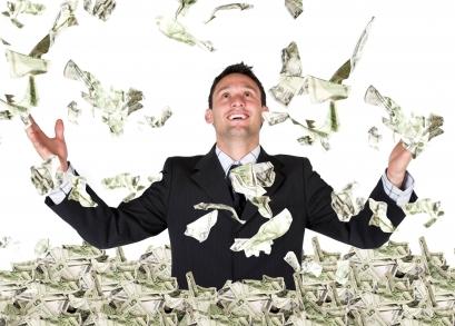 Economies des retombées - Bonheur libéral - Pluie de billets de banques