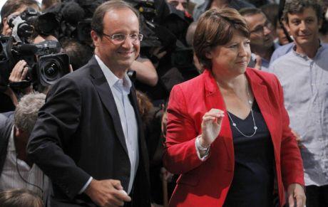 François Hollande - Martine Aubry - Primaire second tour