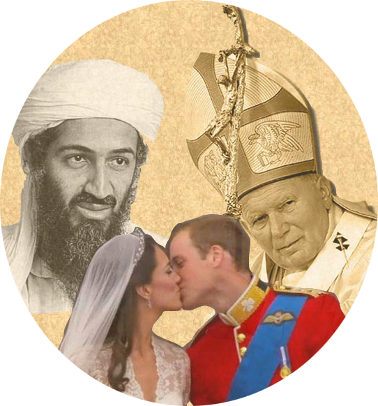 Jean-Paul II William & Kate Oussama Ben Laden