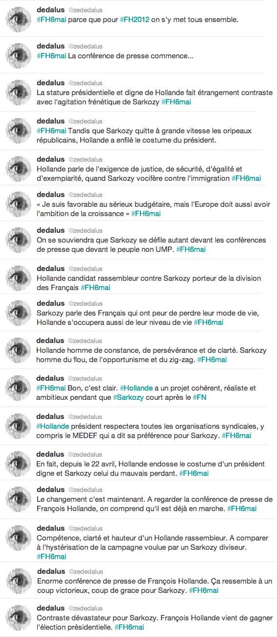François Hollande conférence de presse 25 avril 2012 livetweet