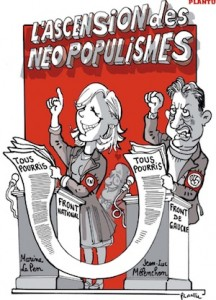 Plantu caricature Mélenchon en populiste