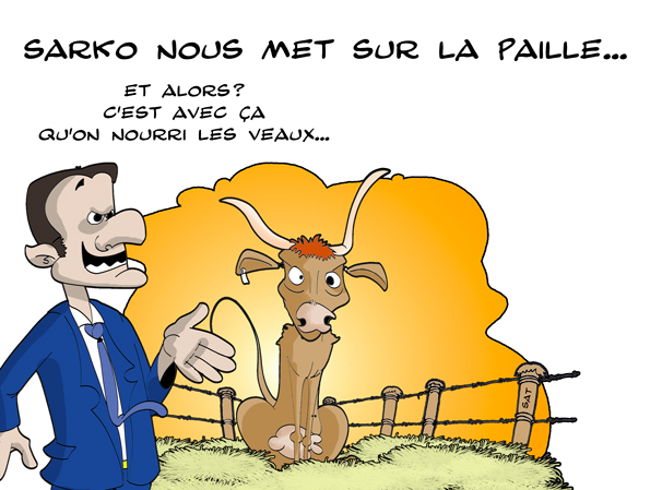 Sarkozy prend les Français pour des veaux