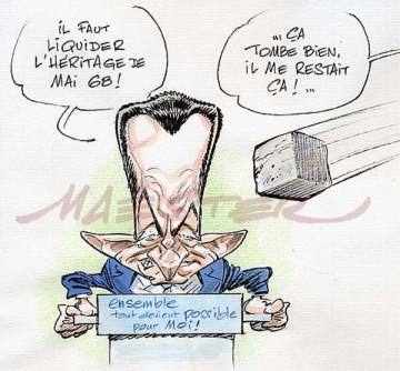 Sarkozy veut liquider mai 68