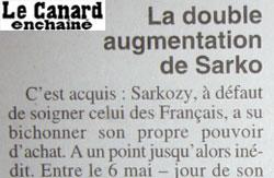 sarkozy continue de percevoir son salaire de ministre de l'intérieur