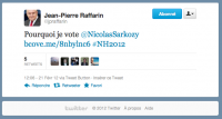 Jean-Pierre Raffarin votera Nicolas Hollande
