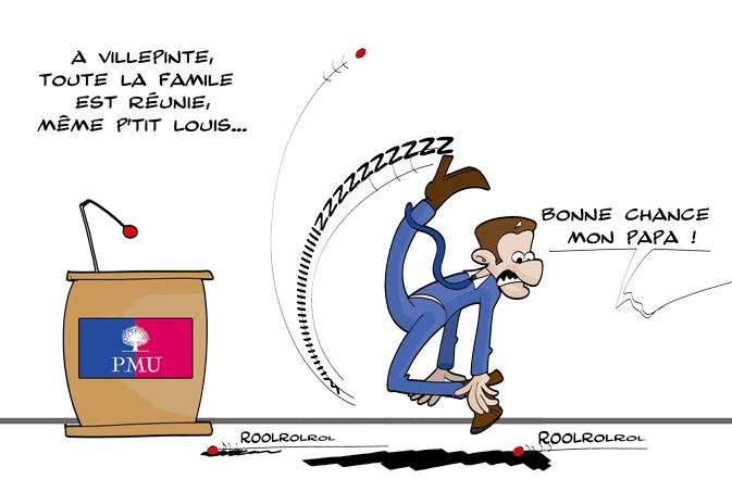 Sarkozy père et fils - Louis et Nicolas - par SaT